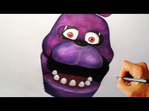 How to draw Bonnie jumpscare from Five Nights at Freddy's FNAF drawing tutorial