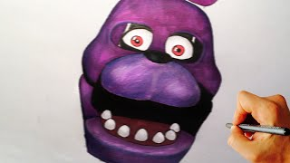 How to draw Bonnie jumpscare from Five Nights at Freddy