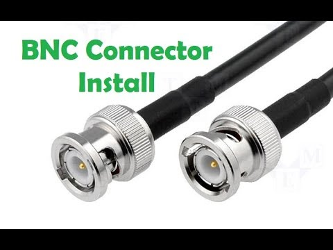 how to put on a bnc connector