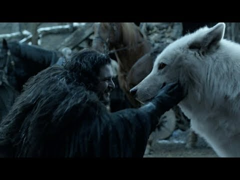 Jon reunites with Ghost   GAME OF THRONES 8x06 Ending Scene [HD]