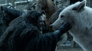 Jon reunites with Ghost | GAME OF THRONES 8x06 Ending Scene [HD]