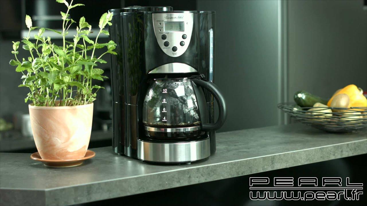 nc3663 cafeti re lectrique avec moulin int gr youtube. Black Bedroom Furniture Sets. Home Design Ideas