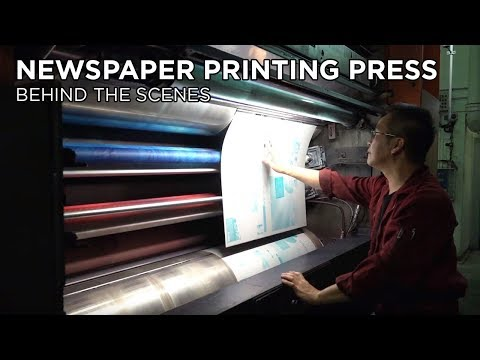 How Young Post newspaper is printed