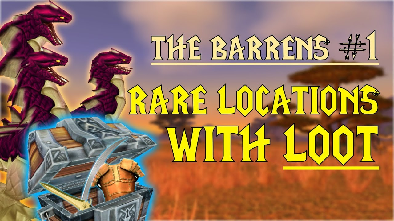 Wow Classic Rare Mob Locations Unique Loot The Barrens Part 1 Youtube