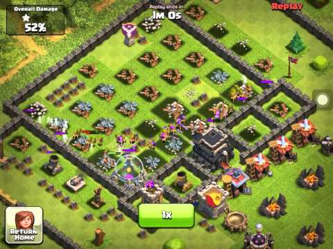 Clash Of Clans ( Archers and Barbarian rush )
