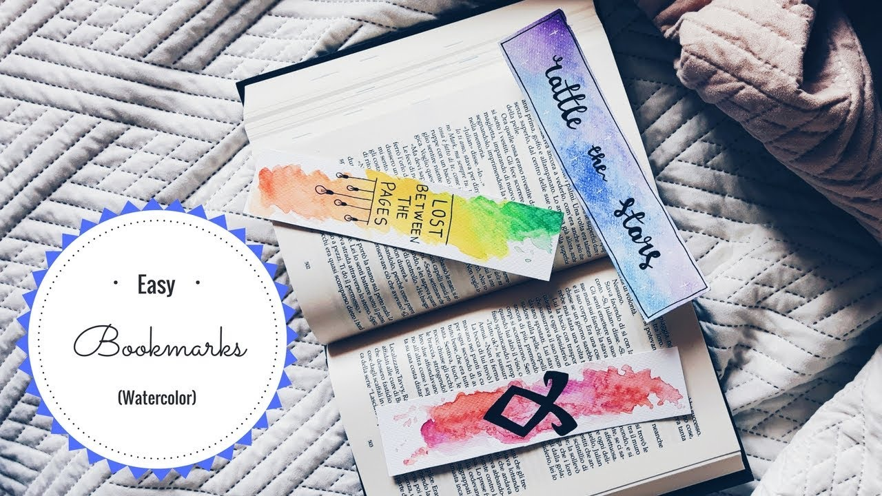 Watercolor bookmark patterns - Easy Watercolor Bookmarks Books And Tea