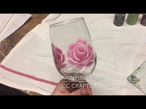 Painting Roses on Wineglasses