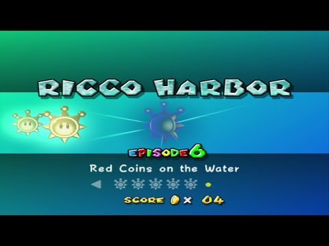 Super Mario Sunshine - Ricco Harbor - Episode 6: Red Coins on The Water
