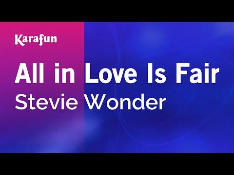 Karaoke All In Love Is Fair - Stevie Wonder *