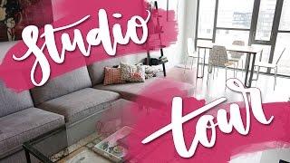 My Studio Apartment Work Space Tour
