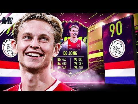 FIFA 19 FUTURE STAR DE JONG REVIEW   90 FUTURE STAR DE JONG PLAYER REVIEW   FIFA 19 ULTIMATE TEAM