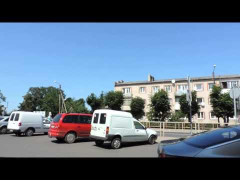 Нестеров. Улица Калинина и Почтовая площадь. Калининградская область