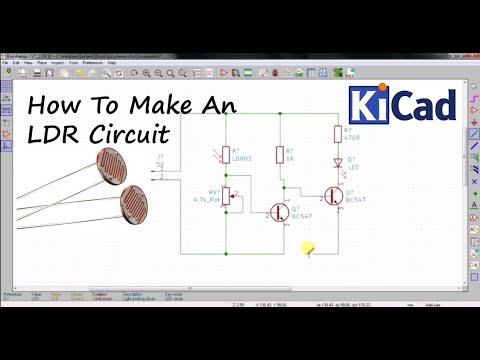 How To Make LDR Darkness Sensor Circuit DIY Using KICAD | Tutorial