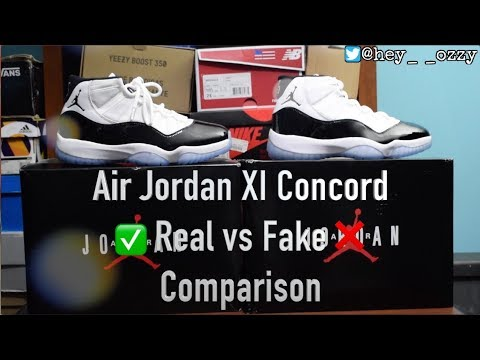 7aa4f35cf51b Air Jordan 11 Concord Real vs Fake (UA) Comparison ( hey ozzy) - YouTube