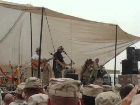 Toby Keith in Iraq performing Courtesy Of The Red, White And Blue (The Angry American).