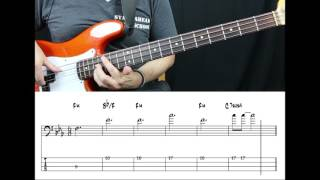 Queen - We Are The Champions (Bass cover with tabs in video)