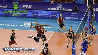 ALL BREAKS REMOVED - USA v Italy - FIVB World League 2017 Pool Play
