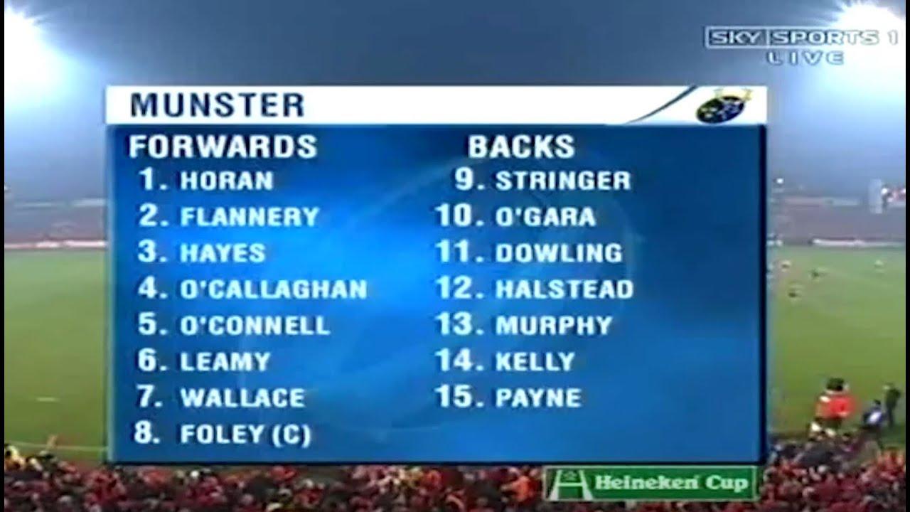 #ClassicMunster   Munster v Sale Sharks, January 2006