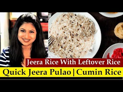 jeera rice recipe with cooked rice | jeera pulao recipe with cooked rice | Quick & Easy Jeera Rice