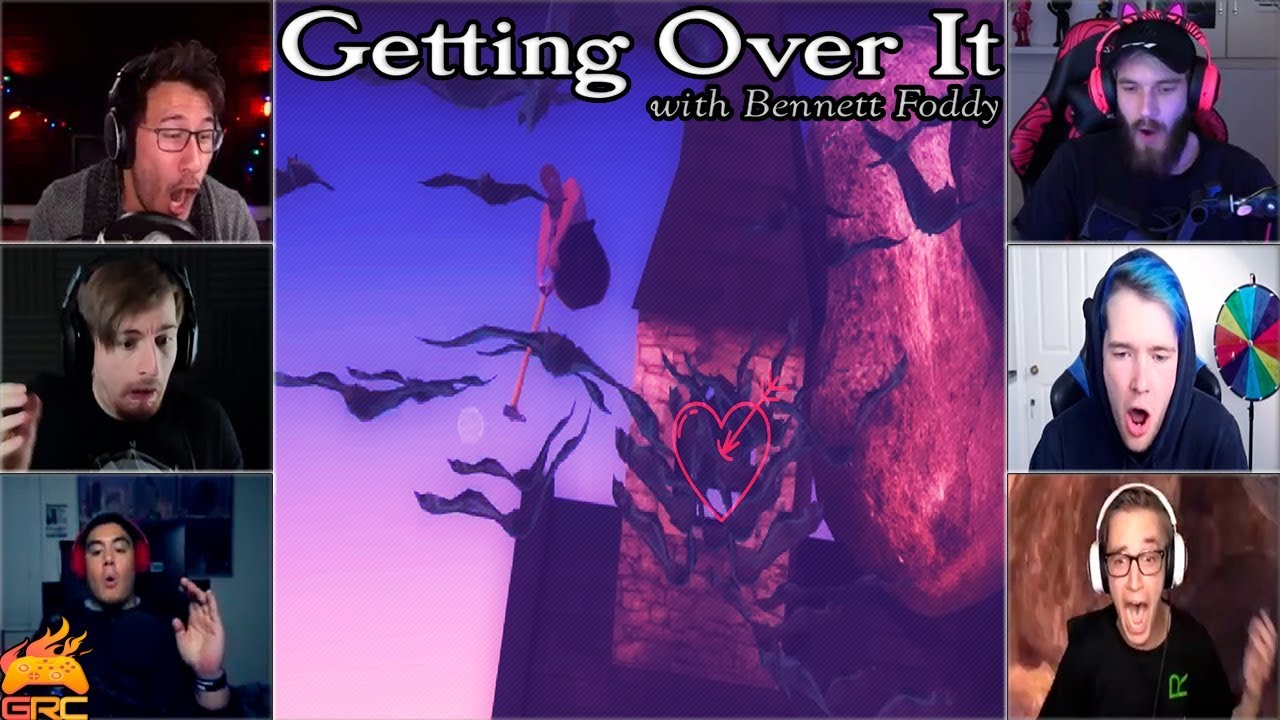 Gamers Reactions to Bats Jumpscare  | Getting Over It