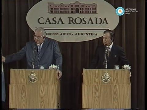 Conferencia de prensa de Helmut Kohl y Carlos Menem, 1996