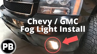 2007 - 2014 Chevy GMC Fog Light Install Tahoe Suburban Yukon Avalanche