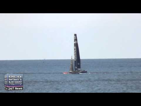 Oracle Team USA Sailing On North Shore, St George's, November 3 2015