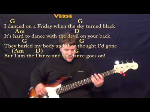 Lord of the Dance (HYMN) Bass Guitar Cover Lesson in G with Chords/Lyrics