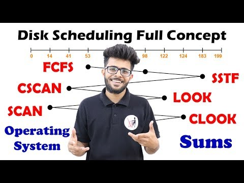 FCFS SSTF SCAN CSCAN LOOK CLOOK Solved Example in Hindi | Disk Scheduling Sums | OS Lectures