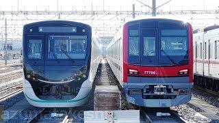 【東武70000系 71706F 南栗橋到着 東急2020系との並び】東武70000系 6編成目 71706F 本日南栗橋留置。運用開始予想!