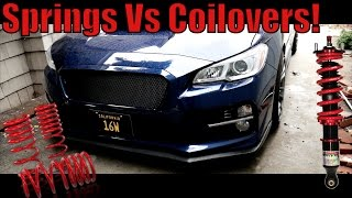 homepage tile video photo for 2015 - 2017 Subaru WRX Coilovers vs Springs