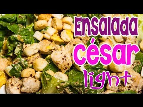 Ensalada c sar de pollo con receta de aderezo bajas - Ensaladas con pocas calorias ...