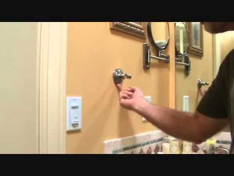 How To Re Install A Bathroom Towel Ring Youtube