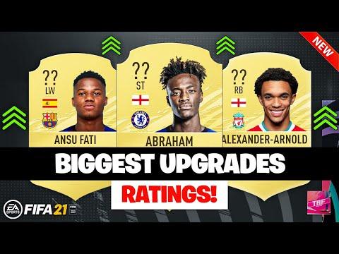 Fifa 21 Biggest Rating Upgrades Ft Ansu Fati Abraham Trent Alexander Arnold Etc Youtube