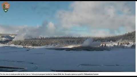 Old Faithful Live-streaming Webcam - Yellowstone Nationalpark