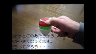 駄菓子屋で100円で買ったこまです。