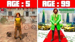 POOR KID to BILLIONAIRE in GTA 5! (Challenge)