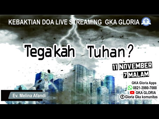 Kebaktian Doa Rabu Live Streaming - Ev. Melina Afandi - 11 Nopember 2020