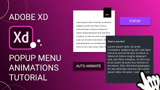 Cool Popup Animations in Adobe Xd + Export as HTML/CSS | Design Weekly
