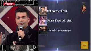 karan johar rates the bollywood singers actors with sonu nigam softy with sonu rsmma