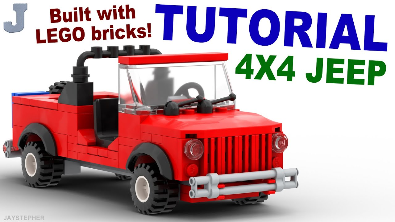 Tutorial Lego 4x4 Red Jeep Cc Doovi