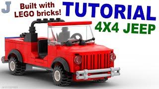 Tutorial - Lego 4x4 Red Jeep [CC]