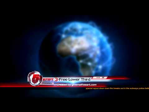 Free News Lower Third Animation - YouTube