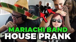 MARIACHI BAND HOUSE PRANK ft. LilyPichu Scarra Pokimane