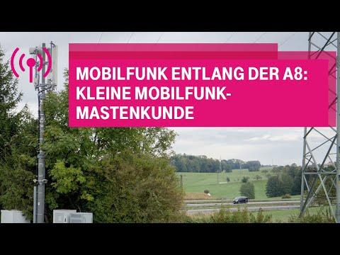 Social Media Post: Mobilfunk entlang der A8: Kleine Mobilfunkmasten-Kunde
