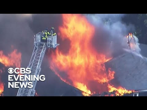 Multiple fires and gas explosions north of Boston