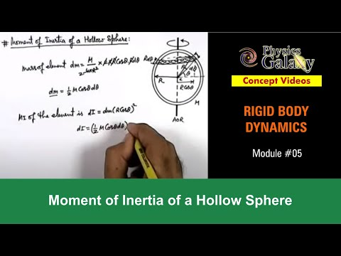 5. Class 11th Physics | Rigid Body Dynamics | Moment of Inertia of a Hollow Sphere | by Ashish Arora