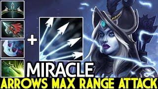 MIRACLE [Drow Ranger] Crazy Multishot Arrows Max Range Attack 7.23 Dota 2