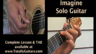 Learn to play Imagine John Lennon acoustic guitar lesson Preview