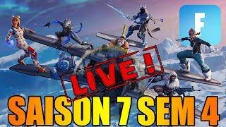 LES DEFIS !! SAISON 7 SEMAINE 4 EN LIVE DANS FORTNITE !!